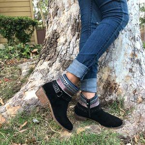 Shoes - BLACK FAUX SUEDE BOOTS